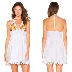 NWT Free People Love and Flowers Dress in White